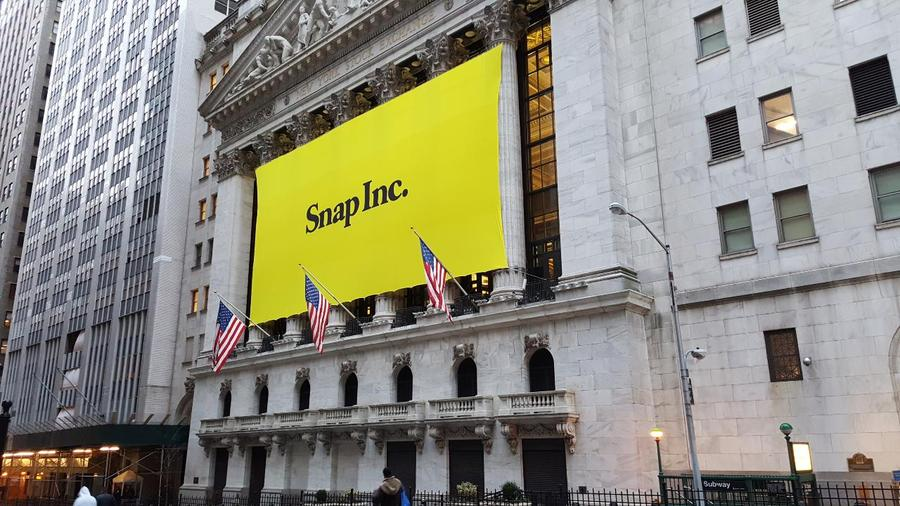 Snap Parent Of Snapchat Begins Trading At The New York Stock